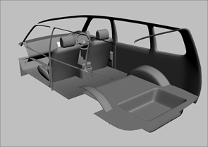 車載シミュレーション用モデリング