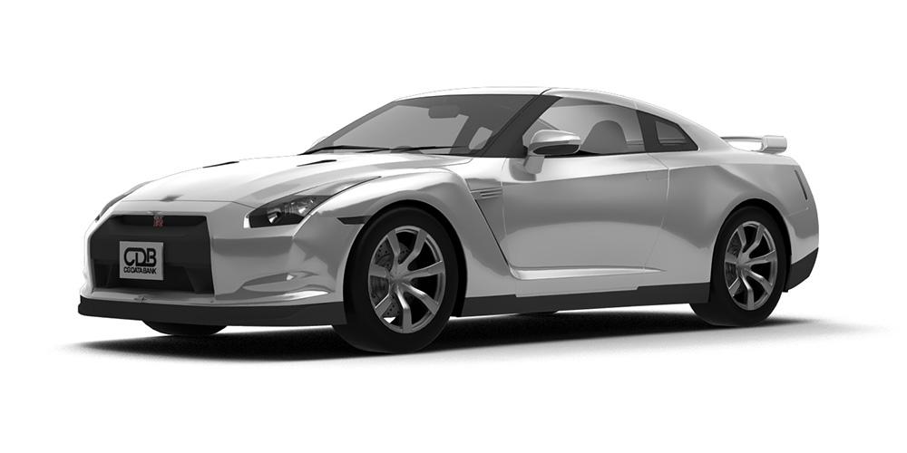 日産 GT-R(R35型) '08 モデリングデータ